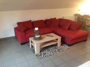 A seating area at Hotel Zum Alten Schlagbaum