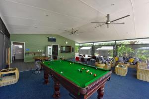A pool table at Daintree Peaks ECO Stays