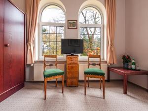 TV/Unterhaltungsangebot in der Unterkunft Hotel Villa Raueneck