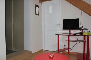 A television and/or entertainment center at L'Etape