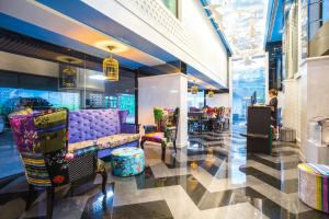 The lobby or reception area at Hotel Clover Asoke