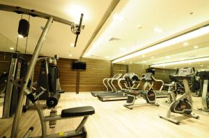 The fitness center and/or fitness facilities at Hotel Clover Asoke