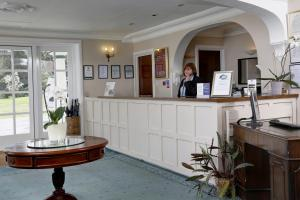 The lobby or reception area at Best Western Lord Haldon Hotel