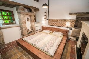 Postel nebo postele na pokoji v ubytování Luxusní srub Líny