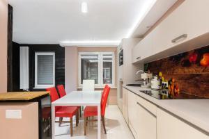 Kuchnia lub aneks kuchenny w obiekcie Rita Apartment SPA Centrum