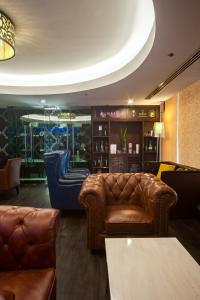 The lobby or reception area at Promenade Hotel Kota Kinabalu