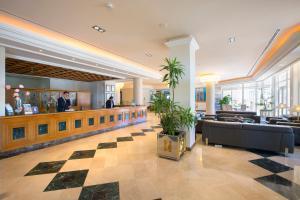 De lobby of receptie bij Hipotels Hipocampo Playa