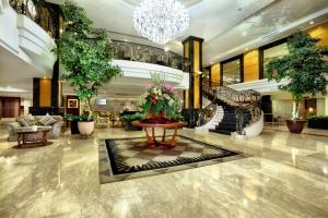 The lobby or reception area at Aston Tropicana Hotel Bandung