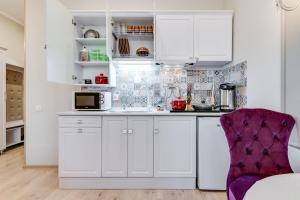 Кухня или мини-кухня в Apartamienty Pitierskii Aristokrat