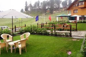 A garden outside Hotel Affarwat