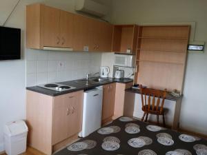 A kitchen or kitchenette at Hampton Court Apartments