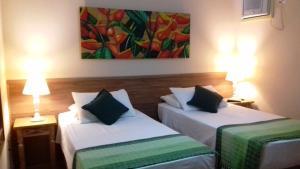 Cama ou camas em um quarto em Pousada Recanto das Estrelas