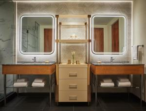 A bathroom at Viceroy Chicago