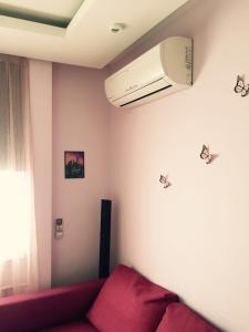 Кровать или кровати в номере Керамический проезд 55
