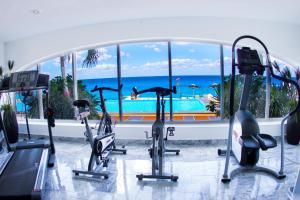 The fitness center and/or fitness facilities at Coral Princess Hotel & Dive Resort