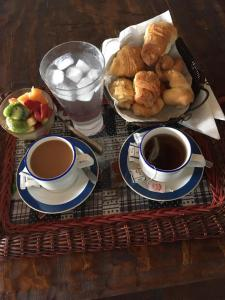 Breakfast options available to guests at Posada Escalones