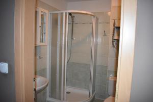 Koupelna v ubytování Hotel Zlatá Štika