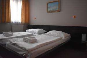Postel nebo postele na pokoji v ubytování Hotel Zlatá Štika