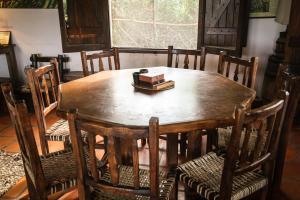 Área para comer en la hostería
