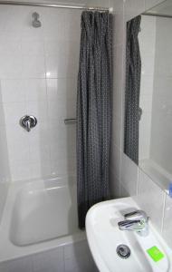 A bathroom at Hotel Comenius