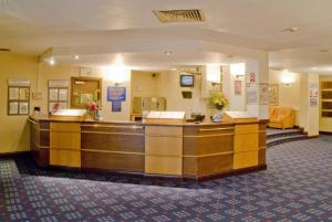 The lobby or reception area at Airport Hotel Manchester