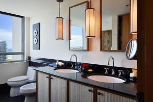 A bathroom at The Setai, Miami Beach
