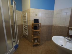A bathroom at Penzion U Krejzů