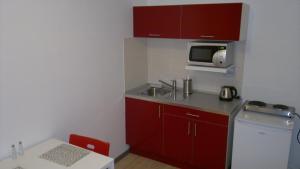 A kitchen or kitchenette at Hotel Terek