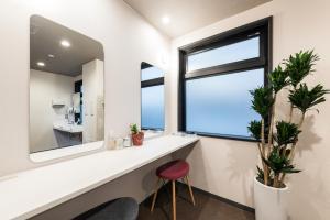A bathroom at Drop Inn Tottori