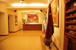 The lobby or reception area at Hotel Asturias