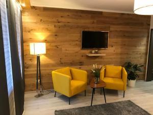 TV/Unterhaltungsangebot in der Unterkunft Eis Cafe Garibaldi
