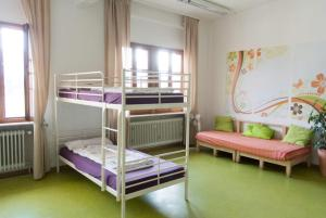 A bunk bed or bunk beds in a room at Steffis Hostel Heidelberg