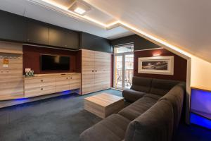 Ein Sitzbereich in der Unterkunft Villa Winterpol