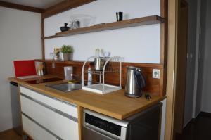 A kitchen or kitchenette at Apartmán v Srdci Hor Cihlářka