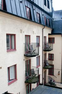 A balcony or terrace at Mayfair Hotel Tunneln