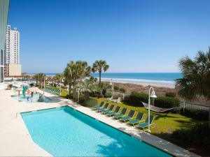 The swimming pool at or near Hampton Inn & Suites Myrtle Beach Oceanfront