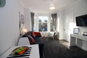 A seating area at Sweet Suites Lytham