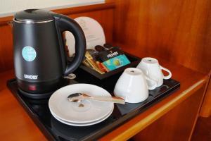 Coffee and tea-making facilities at Romantik Hotel Bülow Residenz
