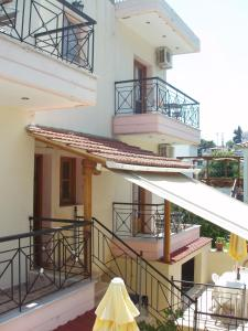 A balcony or terrace at Hellen Studios