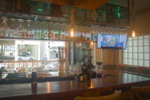 The lounge or bar area at Miami Beach International Hostel