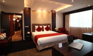 Cama ou camas em um quarto em Novotel Riyadh Al Anoud