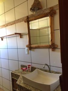 Ein Badezimmer in der Unterkunft Bahiadomizil