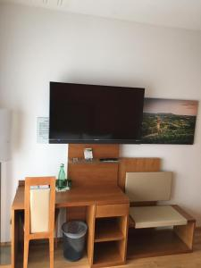 A television and/or entertainment center at Lava Inn