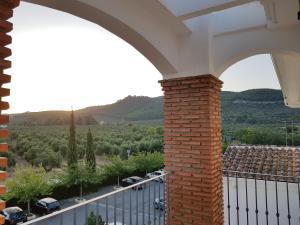 A balcony or terrace at Los Dólmenes