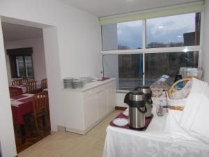 A kitchen or kitchenette at Hotel Mira Rio