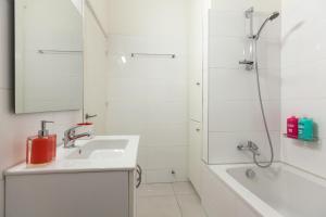 A bathroom at Myrtiana Apartments