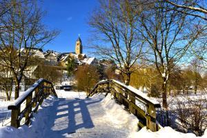 Ferienwohnung am Lennepark during the winter