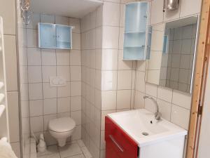 Salle de bains dans l'établissement La Bonardière