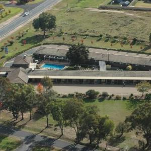 A bird's-eye view of Tumut Valley Motel