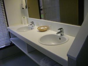 Een badkamer bij De Oude Schouw
